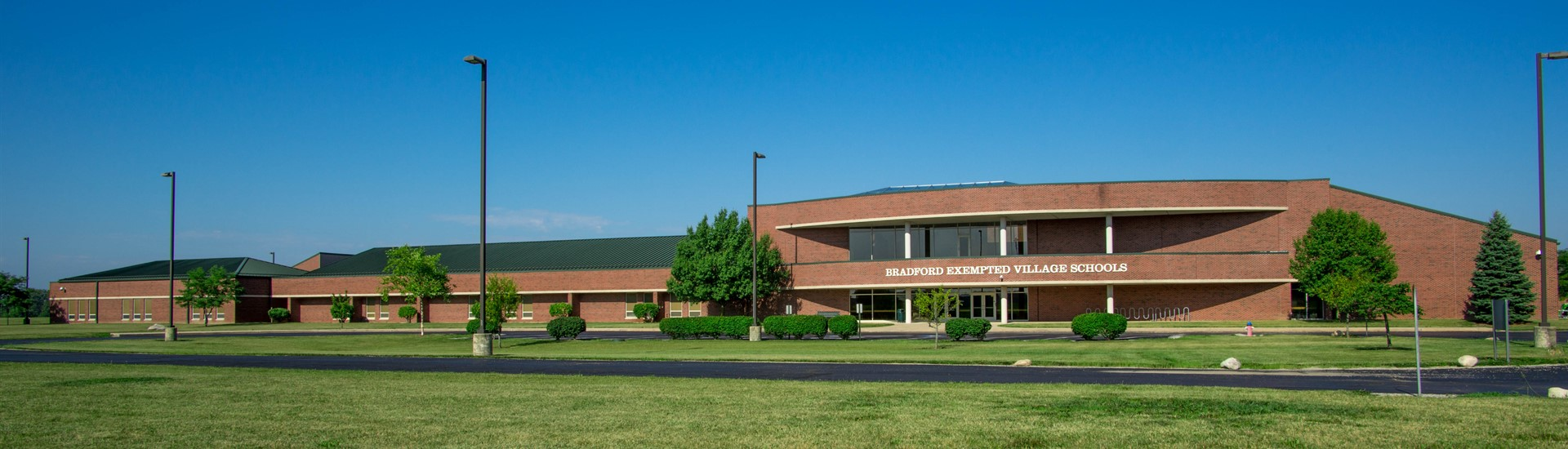 Bradford Exempted Village  Schools Front View